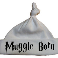 Harry Potter Hat Muggle Born White by geeklingdesigns on Etsy