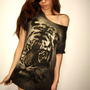 Tiger Animal Design Indie Wolf Rock TShirt M by badassbags4u