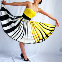 stripe yellow fashion Full Circle Summer sun sweet by sunsfashion