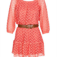 Zig Zag Crochet Ls Dress