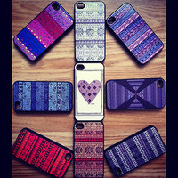 Aztec Tribal Retro Vintage pattern iphone 4 & 4s case cover