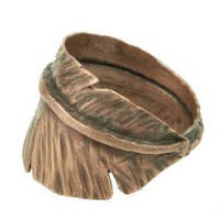 Feather Ring Thumb Ring Male ring unisex by ExCognito on Zibbet