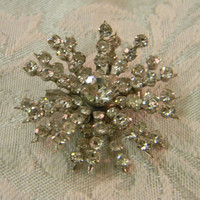 Vintage Coro Rhinestone Starburst Brooch Pin by TheVintageBrides