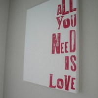 Canvas Word Series - All You Need Is Love