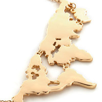 There's a Map for That Necklace