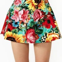 Nasty Gal - Sunrise Blossom Floral Skater Circle  Skirt