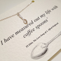 Silver Spoon Charm Necklace - TS Eliot