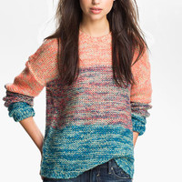 Twisted Angel Slouchy Mlange Stripe Sweater (Juniors) | Nordstrom