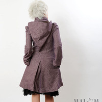 Camille Coat with Goblin Hood and tall collar small by Malam