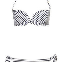 Navy Stripe Bikini Top and Pant - View All - Swimwear  - Apparel - Topshop USA