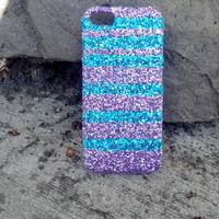 STRIPED glitter iphone 4 case glitter case iphone 5 case