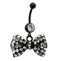 14G Dangle Belly Ring Bl...