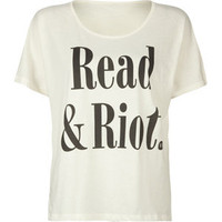 RVCA Read &amp; Riot Womens Tee 184665151 | clothing | Tillys.com