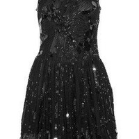 Red Valentino | Embellished mesh dress | NET-A-PORTER.COM