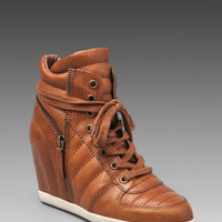 Ash Brooklyn Wedge Sneaker in Tuffato Dark Camel from REVOLVEclothing.com