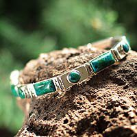 Chrysocolla wristband bracelet, Sweetheart