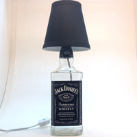 Jack Daniel's Bottle Lamp by SuzisCrafts on Etsy