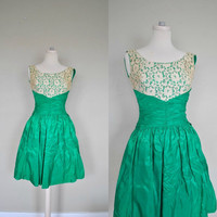 1950s Dress / Vintage Party Dress/ Beautiful by WayfaringMagnolia
