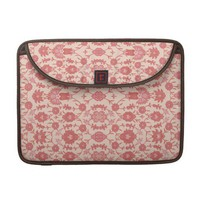 Just Peachy Vintage Floral Pattern Sleeves For MacBooks from Zazzle.com