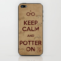 Keep Calm and Potter On // Marauders Map iPhone &amp; iPod Skin by -raminik Design- | Society6