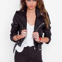 Moto Zip Crop Jacket
