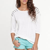 Nollie Stud Shoulder Top at PacSun.com
