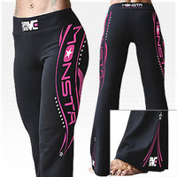 Monsta Yoga Pants-136: Black [W-YOGA-136-BK] - $35.99 : Monsta Clothing Co, Bodybuilding Clothing, Powerlifting Apparel, Weightlifting Shirts, Workout Clothes and MORE
