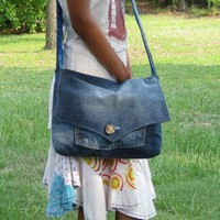 Jeans bag by handmadefuzzy on Zibbet