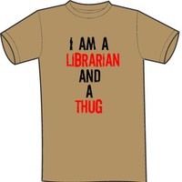 I Am A Librarian And A Thug Tshirt by BelizeTees on Etsy