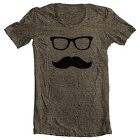 Mustache Wayfarer Men&#x27;s Women&#x27;s T shirt by FullSpectrumClothing