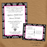The Stephanie Wedding Invitation by DesignsByAmandaLee on Etsy