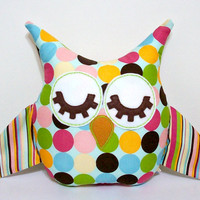 Owl Pillow Plush by LoungeAboutPillows on Etsy