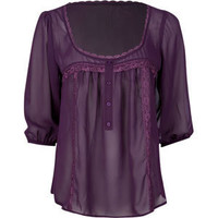 FULL TILT Lace Trim Womens Top 186716750 | blouses &amp; shirts | Tillys.com