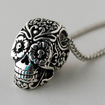 ShanaLogic.com - 100% Handmade & Independent Design! Day Of The Dead Sugar Skull Necklace - New Arrivals
