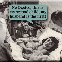 No Doctor This is my second child my HUSBAND  is by mindseyecards