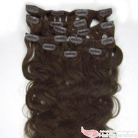 Wholesale 22&quot; 10pcs Body Wavy Clip-In Hair Extensions