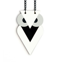 FREE SHIPPING White Owl Necklace