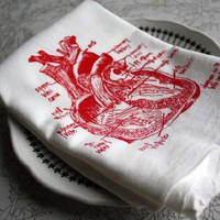 Supermarket - anatomical sweet heart floursack tea towels from girlscantell