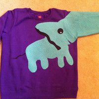 Purple Elephant Sweatshirt by aaamariex on Etsy
