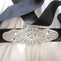 EcoVolveNow Crystal Sash Embellishment Belt