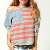 Charlotte Oversized American Flag Sweat