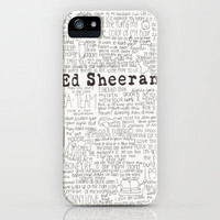 ed sheeran iPhone Case by CalmOceans | Society6