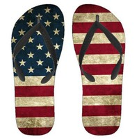 Amazon.com: Grunge American Flag Sandals - Men / Women: Shoes