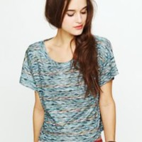 Free People Rainbow Wave Boxy Top at Free People Clothing Boutique