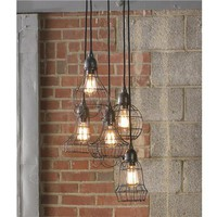 Industrial Cage Pendant Chandelier