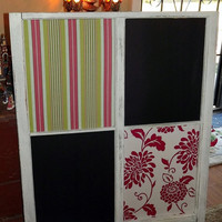 Custom Vintage Window Message Board Chalkboard by QuirksByAnnie