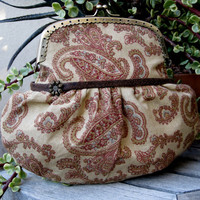 Framed Clutch Purse with Vintage Look by PoePoePurses on Etsy $25.00