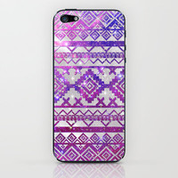 Aztec Tribal Diamond Pattern Pink Nebula Galaxy Space iPhone &amp; iPod Skin by Girly Trend | Society6