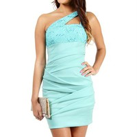 Randall- Mint Short Prom Dress