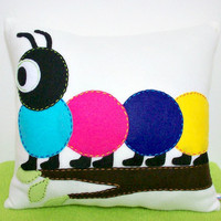 Caterpillar Applique Pillow